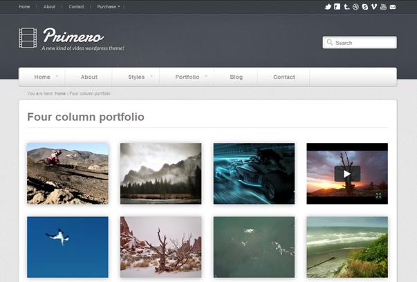 30 премиум тем для портфолио на WordPress - Primero