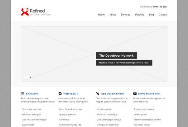 30 премиум тем для портфолио на WordPress - Refined