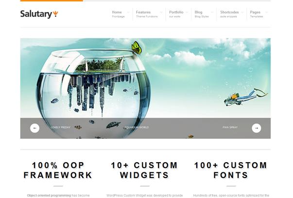 30 премиум тем для портфолио на WordPress - Salutary