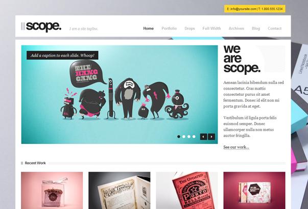 30 премиум тем для портфолио на WordPress - Scope