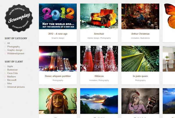 30 премиум тем для портфолио на WordPress - Screenplay