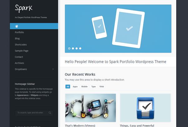 30 премиум тем для портфолио на WordPress - Spark