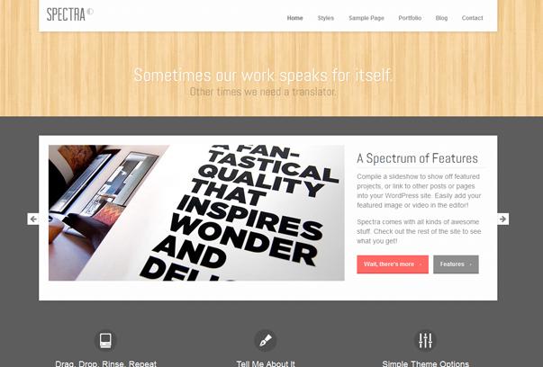 30 премиум тем для портфолио на WordPress - Spectra
