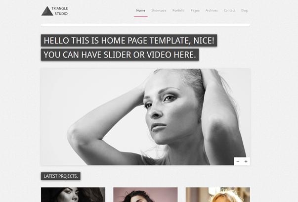 30 премиум тем для портфолио на WordPress - Triangle Studio