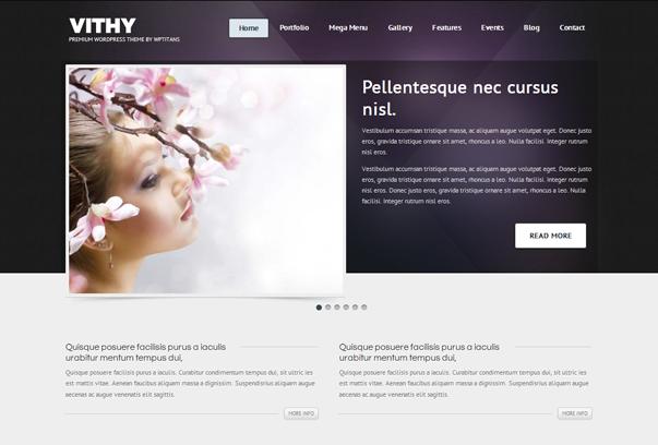30 премиум тем для портфолио на WordPress - Vithy