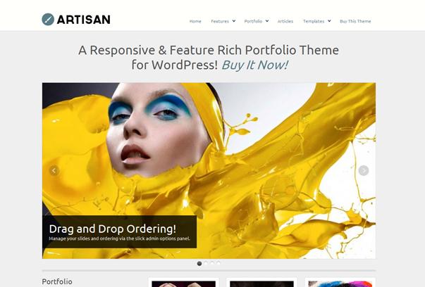 30 премиум тем для портфолио на WordPress - WP Artisan