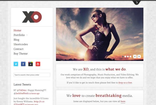 30 премиум тем для портфолио на WordPress - XO