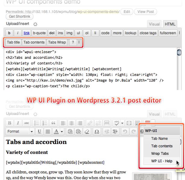 WP UI - плагин, вставляющий в посты табы и слайдер (3)