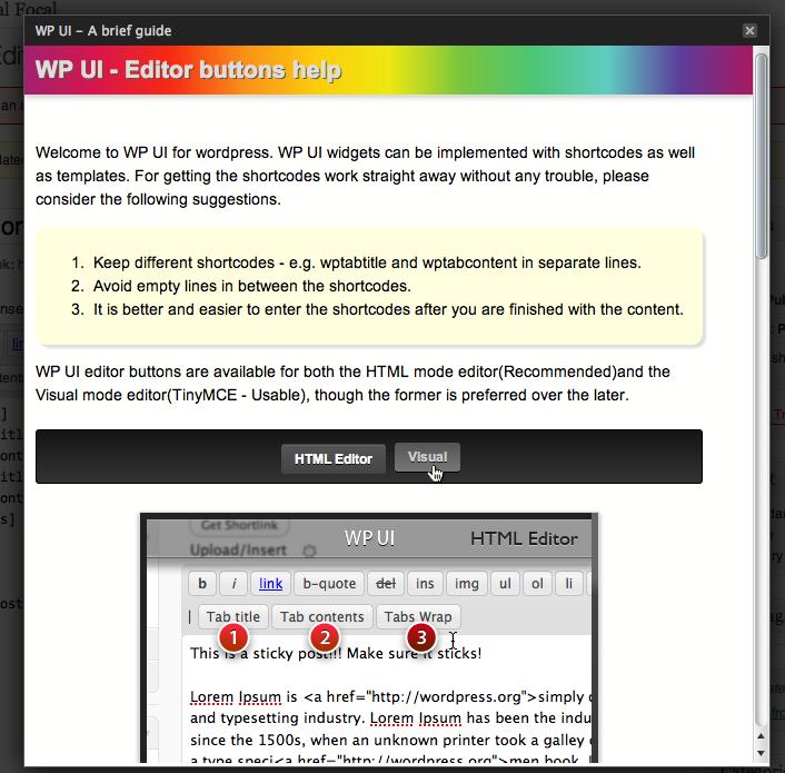 WP UI - плагин, вставляющий в посты табы и слайдер (2)