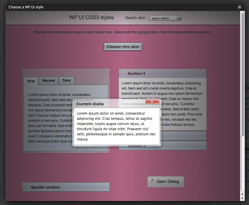 WP UI - плагин, вставляющий в посты табы и слайдер (1)