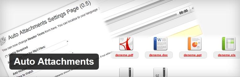 Auto Attachments - плагин для добавления файлов разных форматов в пост | n-wp.ru