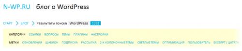Как сделать фильтр поисковых результатов по категориям и тегам | n-wp.ru