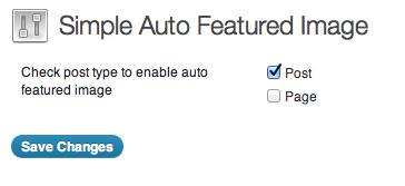 Плагин Simple Auto Featured Image - автоматическое указание миниатюры поста | n-wp.ru