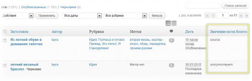 Как вывести данные произвольного поля в админке отдельной колонкой | n-wp.ru