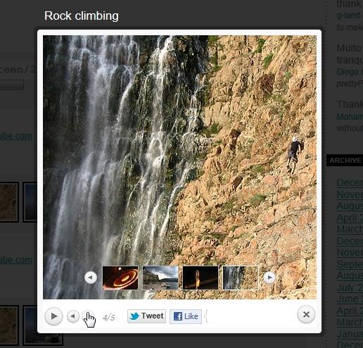 Вывод изображений и видео поверх содержимого - плагин prettyPhoto Media (3)