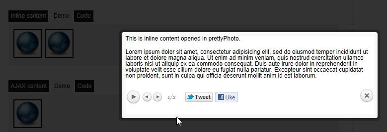 Вывод изображений и видео поверх содержимого - плагин prettyPhoto Media (7)