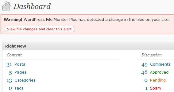 WordPress File Monitor Plus - отслеживание файлов, которые были изменены, добавлены или удалены | n-wp.ru