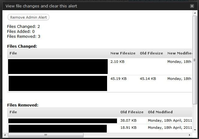 WordPress File Monitor Plus - отслеживание файлов, которые были изменены, добавлены или удалены (2)