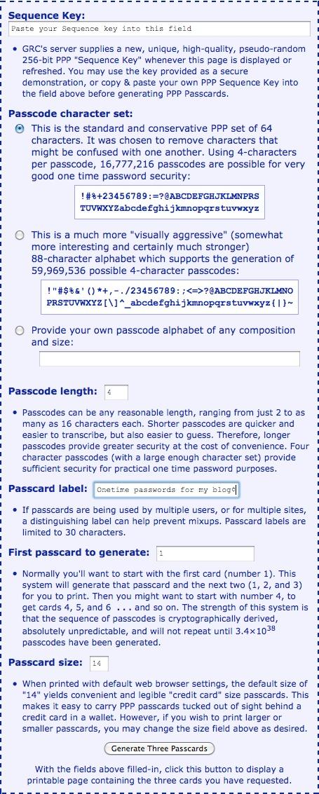 Как защитить блог дополнительным паролем - Perfect Paper Passwords (2)