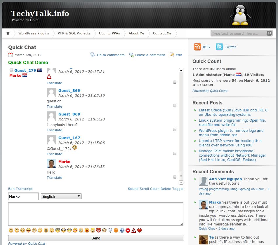 Как организовать простой чат - Quick Chat | n-wp.ru