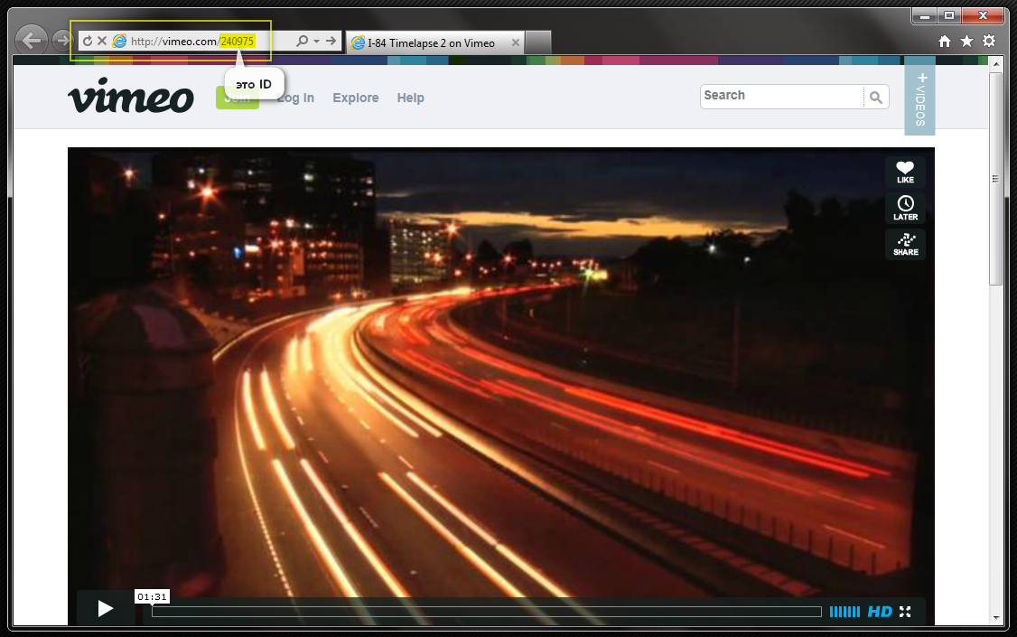 Шорткод Vimeo (стандартный и расширенный варианты) | n-wp.ru