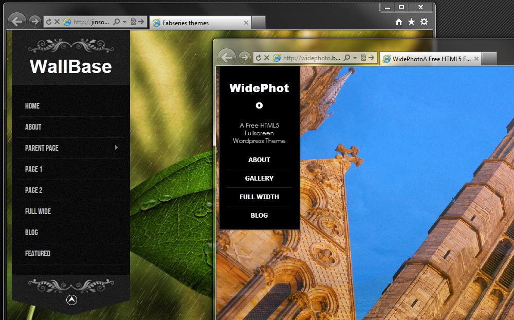 Три красивых темных темы с широким фоновым изображением для сайтов фотографов - Axis, ShutterShot и Wallbase | n-wp.ru
