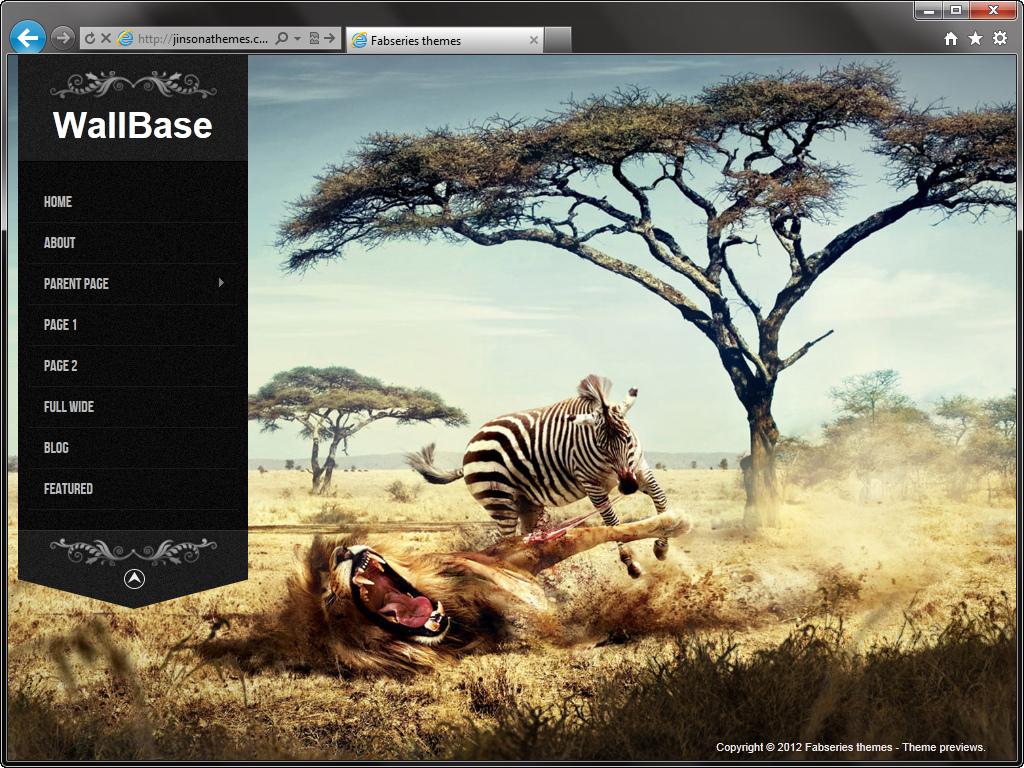Три красивых темных темы с широким фоновым изображением для сайтов фотографов - Wallbase