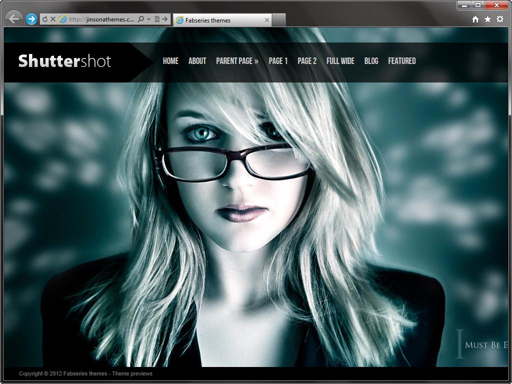 Три красивых темных темы с широким фоновым изображением для сайтов фотографов - ShutterShot