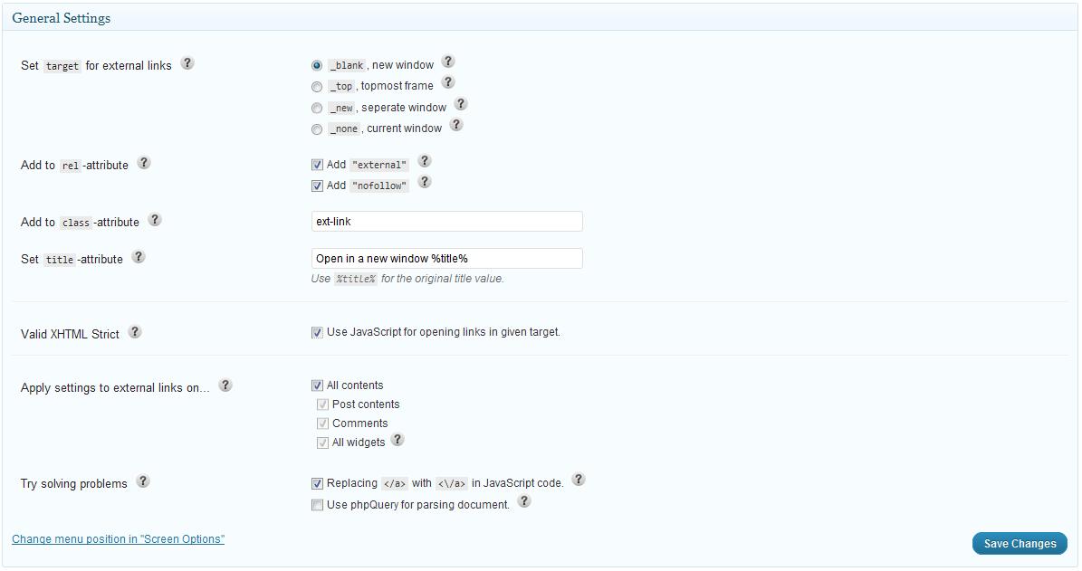 WP External Links - плагин для управления внешними ссылками и добавления к ним индивидуального оформления (2)