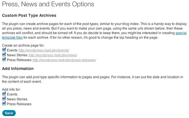 Press, News, Events - плагин для добавления пресс-релизов, новостей и событий (1)