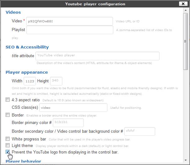 Youtube shortcode - плагин для создания шорткода вставки видео из YouTube, с возможностью настройки всех параметров воспроизведения (3)