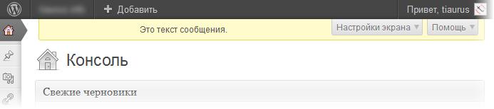 Как добавить произвольное сообщение в консоль WordPress | n-wp.ru