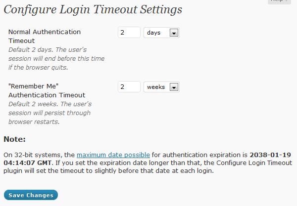 Плагин configure-login-timeout - управление длительностью жизни сессии залогиненых пользователей | n-wp.ru