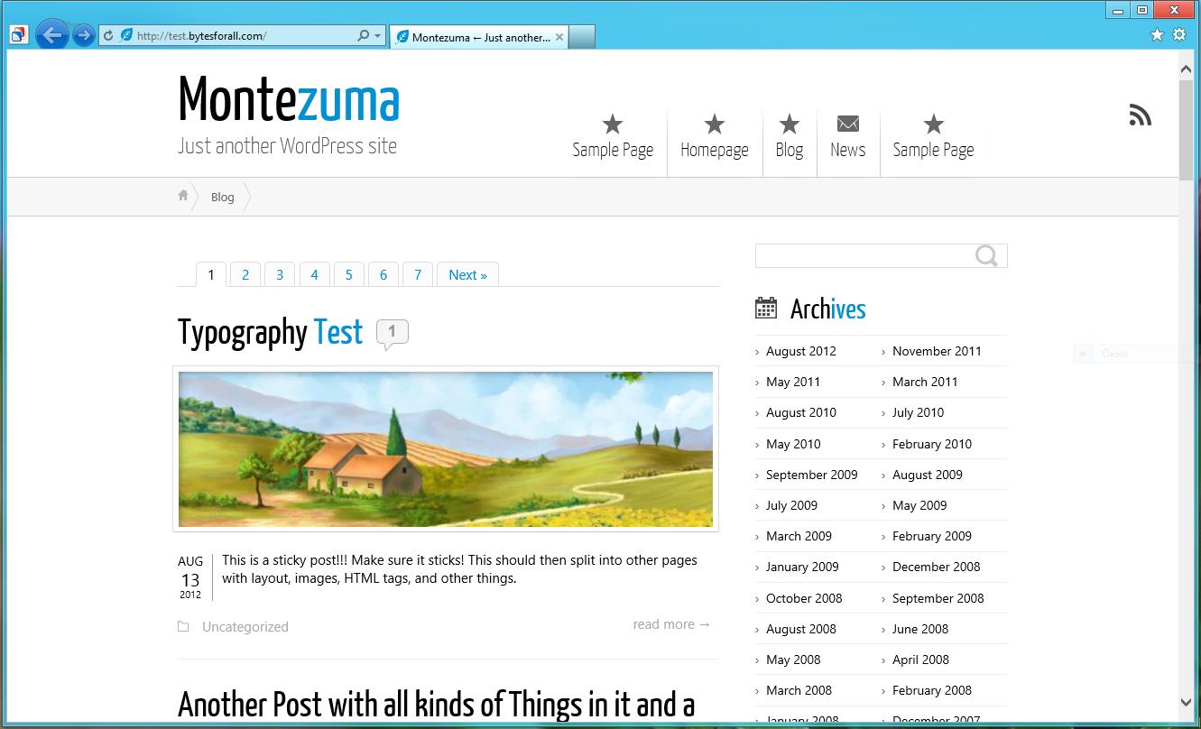 Montezuma - элегантная, минималистичная, светлая тема для личного блога | n-wp.ru