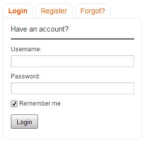 Tabbed Login Widget - формы входа в блог, регистрации и восстановления пароля в одном виджете | n-wp.ru