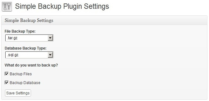 Simple Backup - удобный плагин для создания полного бэкапа блога | n-wp.ru