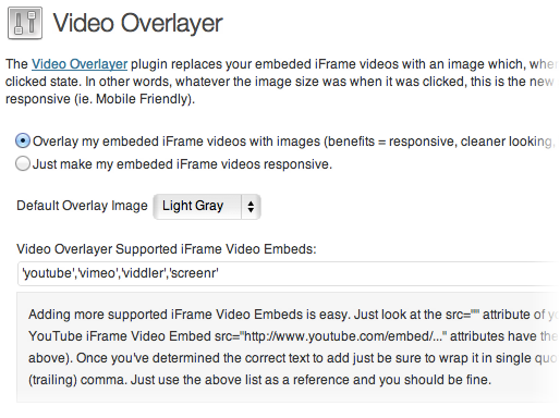Video Overlayer - плагин для замены видео, вставленного в блог с помощью iframe, изображением (2)
