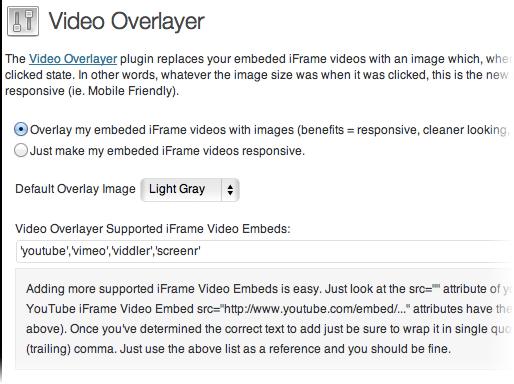 Video Overlayer - плагин для замены видео, вставленного в блог с помощью iframe, изображением (2)