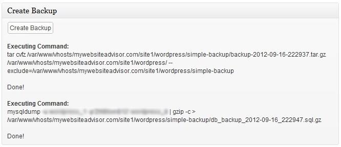 Simple Backup - удобный плагин для создания полного бэкапа блога (2)