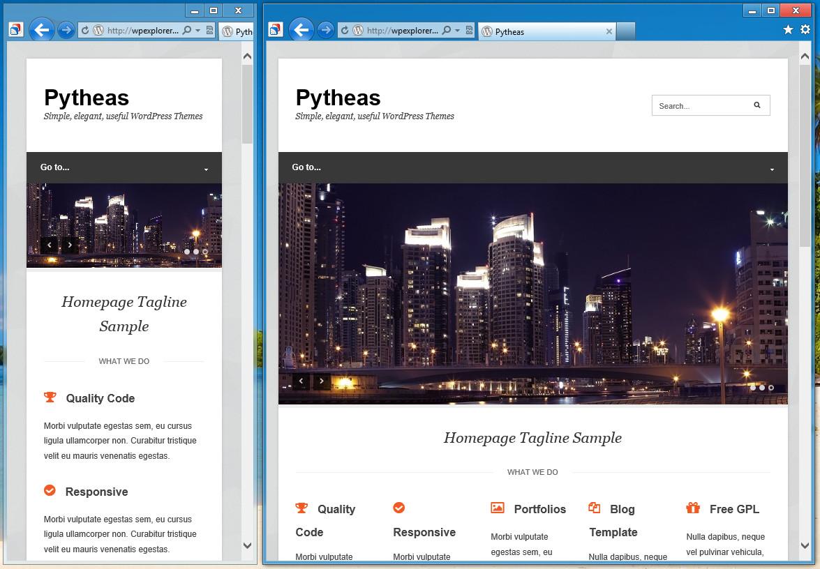 Pytheas - отзывчивая тема для корпоративного блога (3)