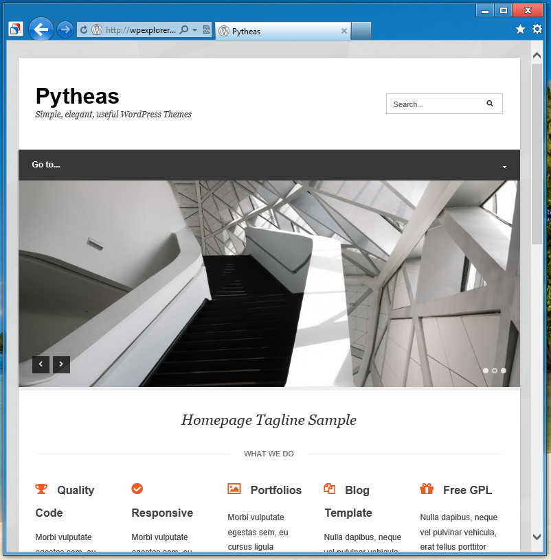 Pytheas - отзывчивая тема для корпоративного блога (2)