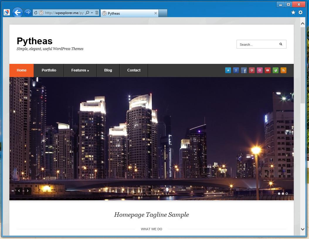 Pytheas - отзывчивая тема для корпоративного блога (1)