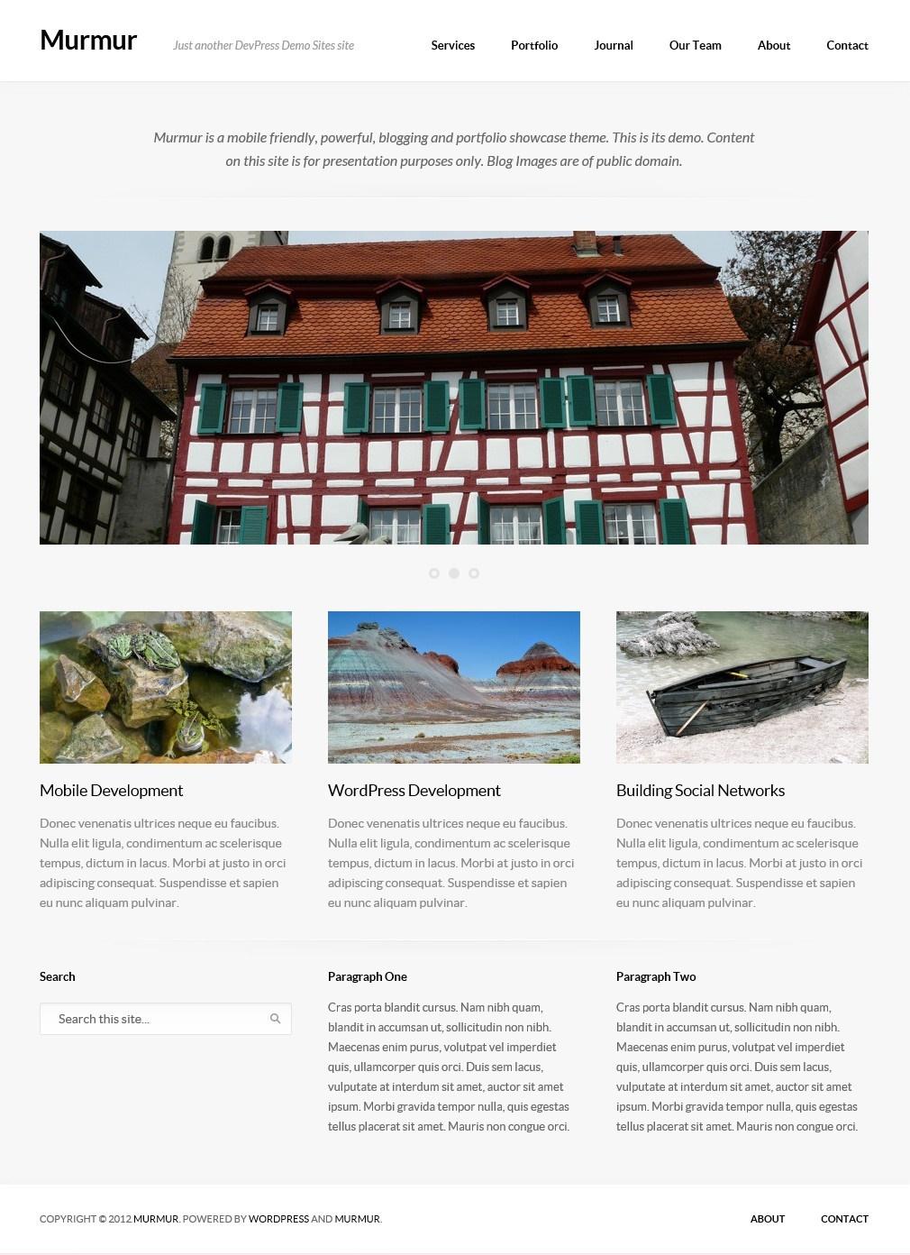 Murmur - тема для блога с портфолио и дизайном, адаптированным под разное разрешение экрана | n-wp.ru