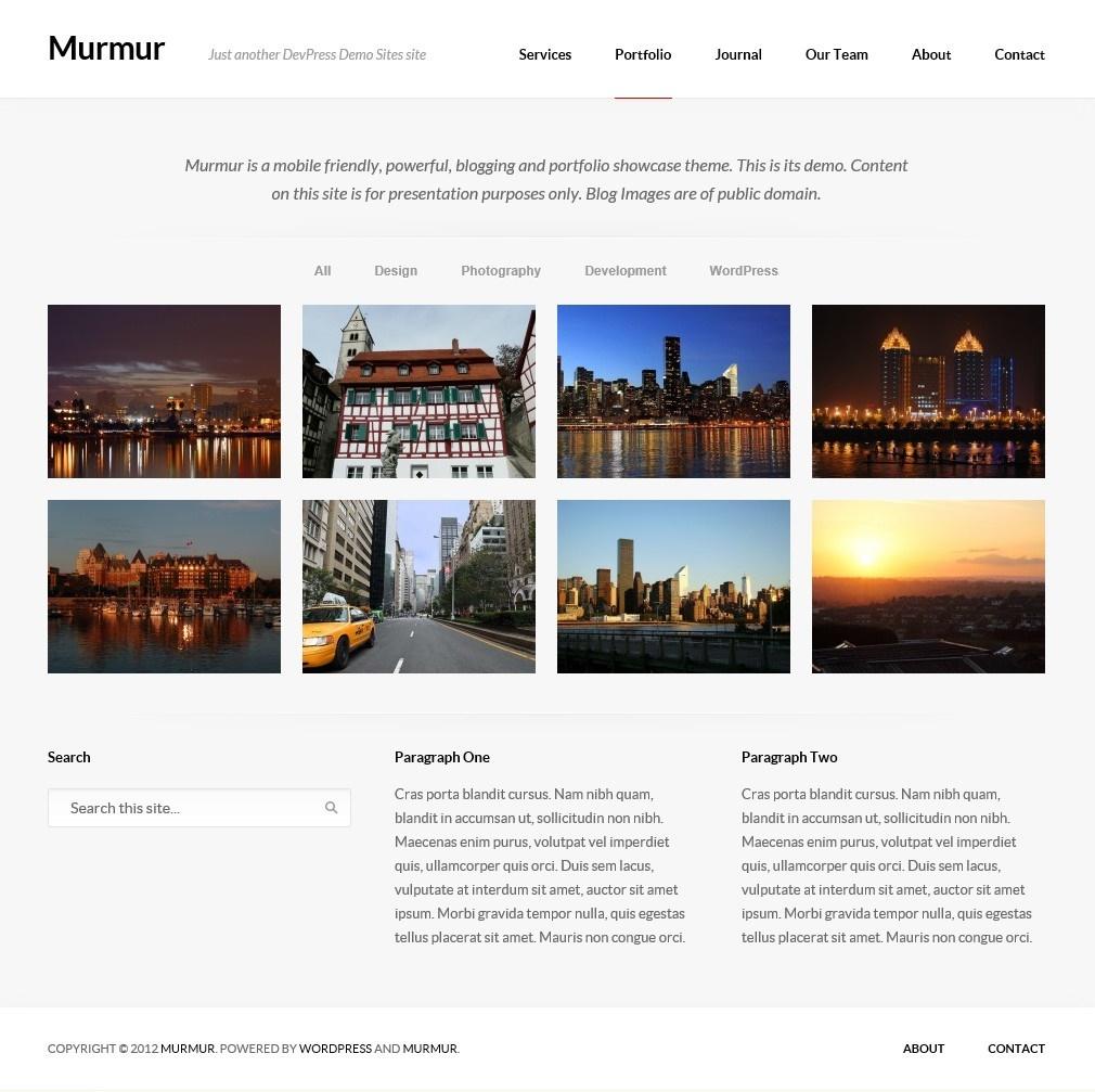 Murmur - тема для блога с портфолио и дизайном, адаптированным под разное разрешение экрана (5)