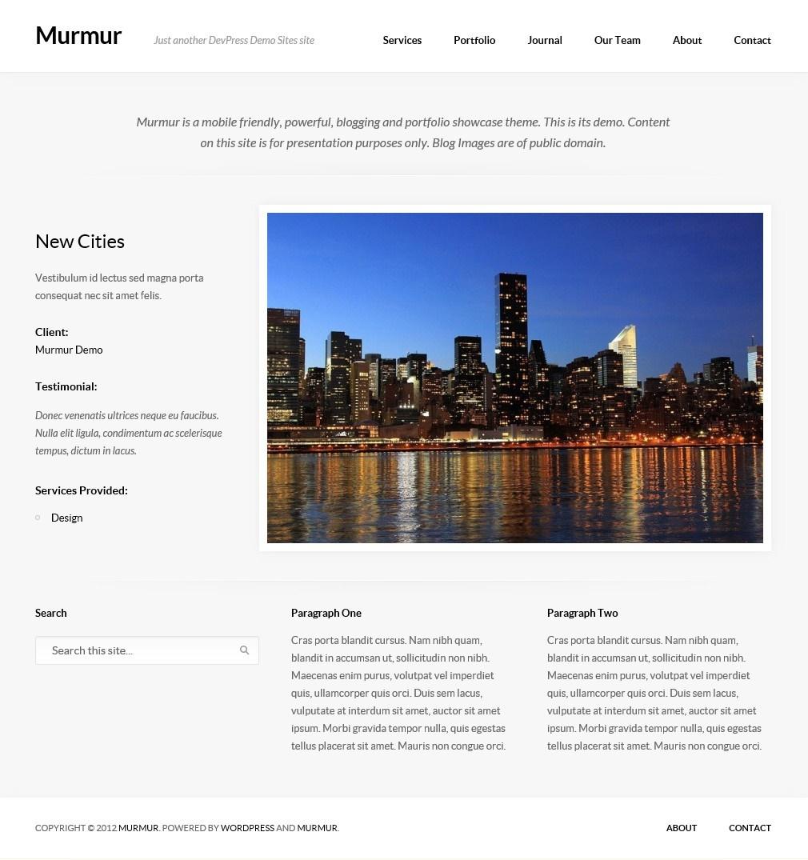 Murmur - тема для блога с портфолио и дизайном, адаптированным под разное разрешение экрана (4)