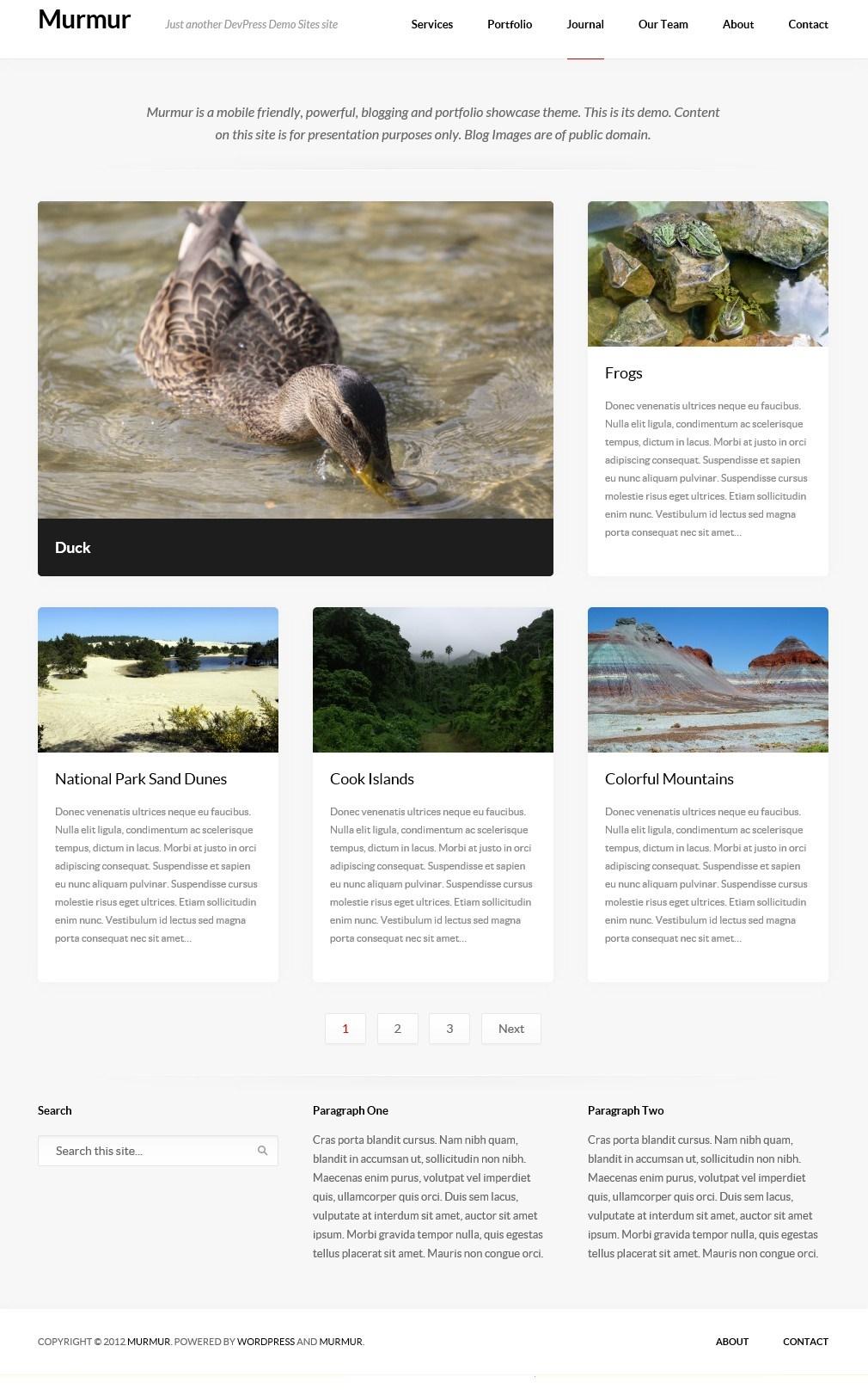 Murmur - тема для блога с портфолио и дизайном, адаптированным под разное разрешение экрана (3)