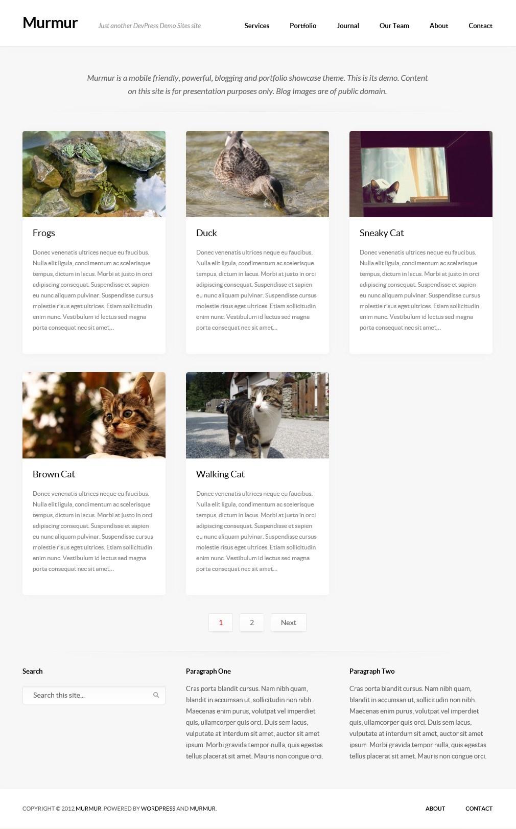 Murmur - тема для блога с портфолио и дизайном, адаптированным под разное разрешение экрана (2)