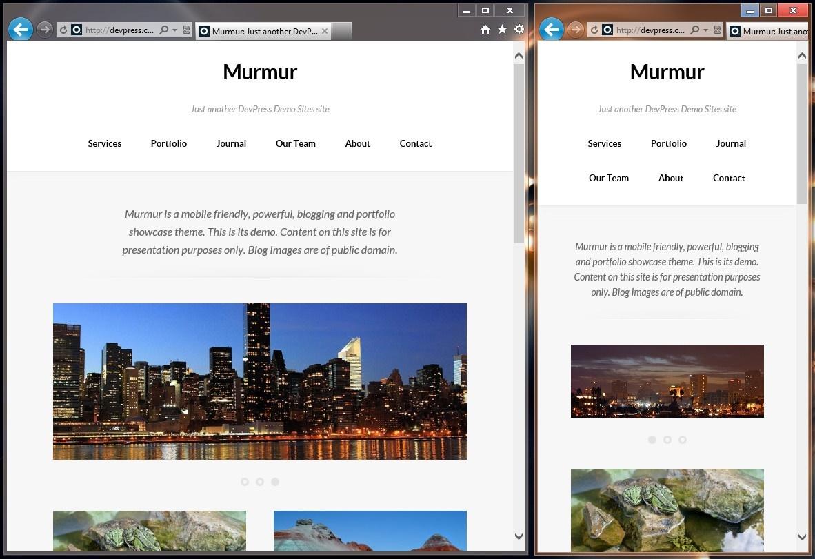 Murmur - тема для блога с портфолио и дизайном, адаптированным под разное разрешение экрана (1)