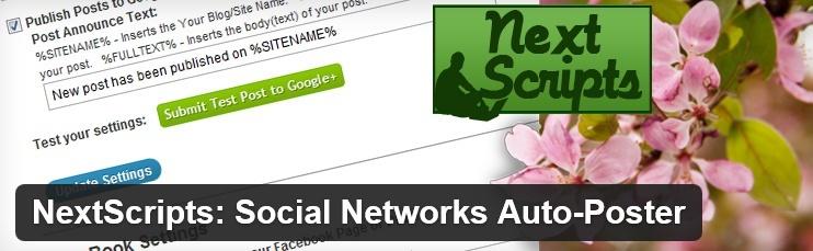 NextScripts: Social Networks Auto-Poster - плагин для автоматической отправки постов в социальные сети | n-wp.ru