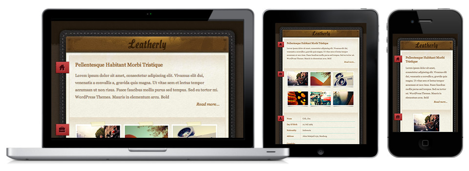 Leatherly - стильная тема для личного блога с оригинальным оформлением (2)